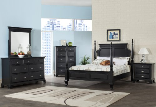 Elements Cantebury 5-Piece Bedroom Set, King, Black