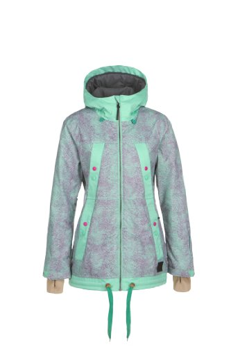 O'Neill Damen Snow Jacke PWFR Sketch Jacket, Pink AOP, XL, 355027