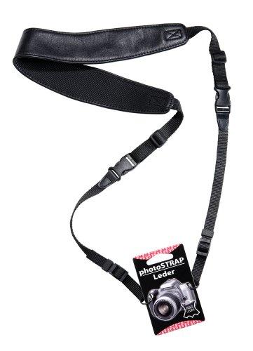 digiSTRAP Leder Kamera Hals Tragegurt mit Schnellverschluß schwarz