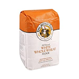 King Arthur Multipurpose White Whole Wheat Flour, 5 Pound -- 8 per case.