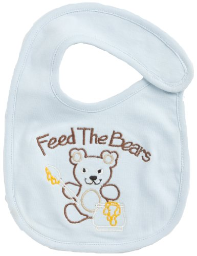Funkoos Feed The Bears Organic Baby Bibs, Newborn/Infant/Baby Boy