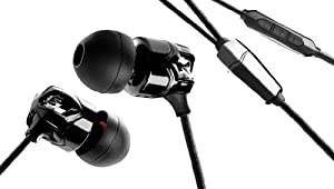 V-MODA Vibrato In-Ear Noise-Isolating Metal Headphone with 3-Button Apple Control (Black/Chrome).