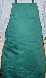 Winco BA-PGN Full Length Bib Apron with Pocket Green