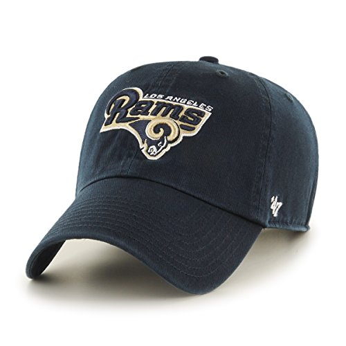 nfl-los-angeles-rams-clean-up-adjustable-hat-navy-one-size