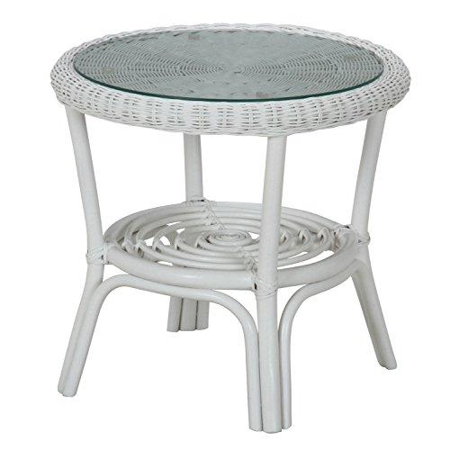 不二貿易 ウィッカー センター テーブル ホワイト 96214