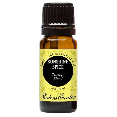 Sunshine Spice Synergy Blend Essential Oil by Edens Garden (Balsam, Camphor, Cinnamon Bark, Cinnamon Leaf, Eucalyptus and Sweet Orange)- 10 ml