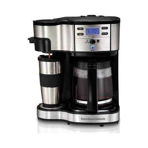 Single Cup Coffee Maker History : Hamilton Beach 49980Z Single Serve Coffee 2-Way Brewer and Full Pot Coffee Maker (B004O0AOMQ ...