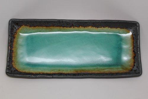 Large Japanese Turquoise Green Kosui Plate