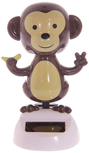 Dancing Monkey: Solar Powered Novelty Toy - wiggles/dances in sunlight - 1