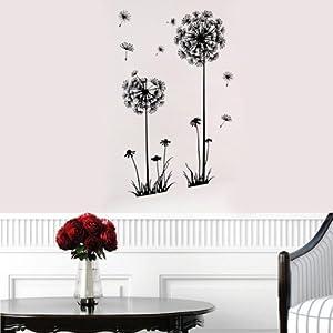 Decorative Dandelion Wall Stickers Brown Wallpaper@Kuntaashop from BgUK
