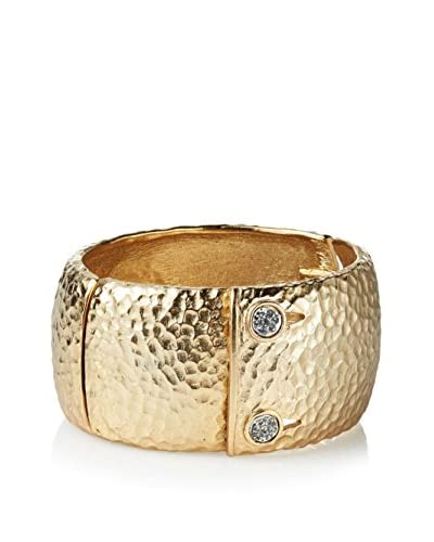 Tat2 Designs Gold Artemis Double Stone Bangle with Pave