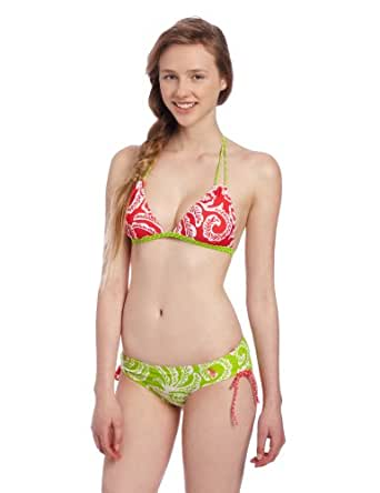 Amazon.com: U.S. Polo Assn. Women's Bikini with Mixed Color Paisley