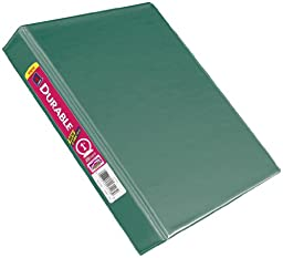 Avery 5.5 x 8.5 Inches Durable View Binder with 1-inch Round Ring, Moss Green (27826)