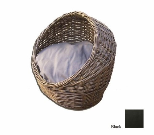 Snoozer Wicker Cat Bed, Small, Black