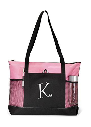 Personalized Tote Bag Book Shopping Pink Monogrammed New Business Diaper Baby