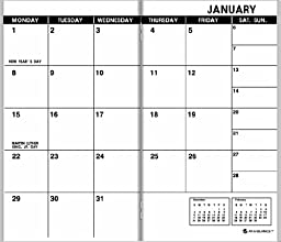 AT-A-GLANCE 2014 Monthly Planner Refill for 70-064, 3.25 x 6.12 inches (70-906-10)