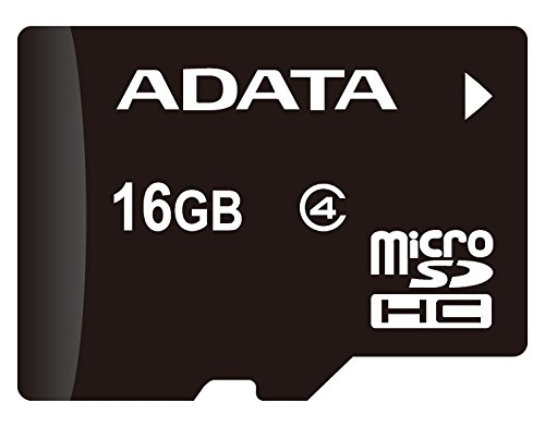 ADATA 16GB microSDHC Class 4 Memory Card with Adaptor (AUSDH16GCL4-RA1) (Micro Sd Adata compare prices)