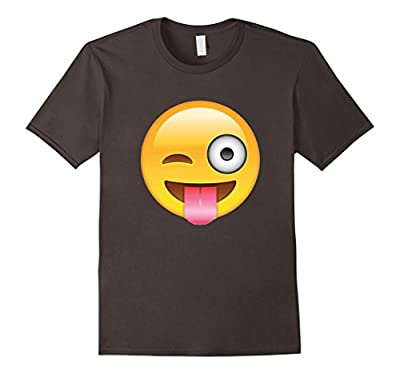 Silly Winky Face and Tongue Out Emoji Funny T-Shirt