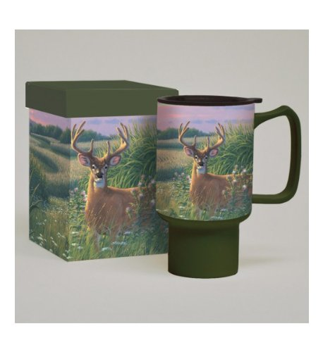 Lang Red Velvet Deer Travel Mug