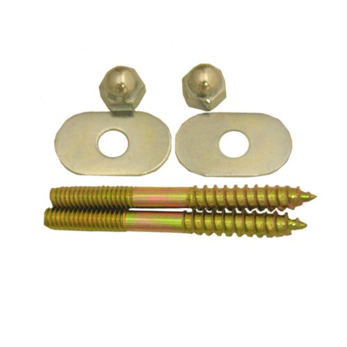 Lasco 04-3611 Toilet Screws with Brass Plated 1/4-Inch by 2-1/2-Inch with Nuts and Washers