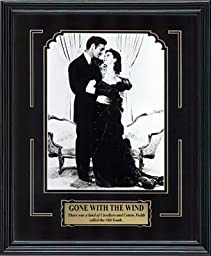 Gone with the Wind. Clark Gable and Vivien Leigh. Framed Movie Photo in the Black Modern Real Wood Frame (12 x 15)