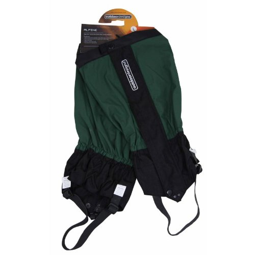 Outdoordesigns Mens Alpine Hiking Gaiters Green Large