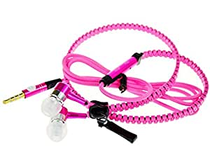 Dhhan Pink Zipper Headphones for Panasonic Eluga A