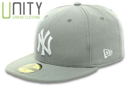 New Era MLB NY Yankees 59Fifty Cap - Grey/White