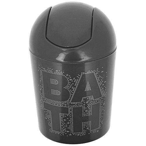 3611900054405 promobo poubelle salle de bain corbeille maquillage design bathroom noir - Poubelle Salle De Bain Noir