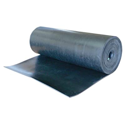 """Nitrile - Commercial Grade Black - 60A Rubber Sheet - Buna Rubber - 3/8"""" Thic..."""