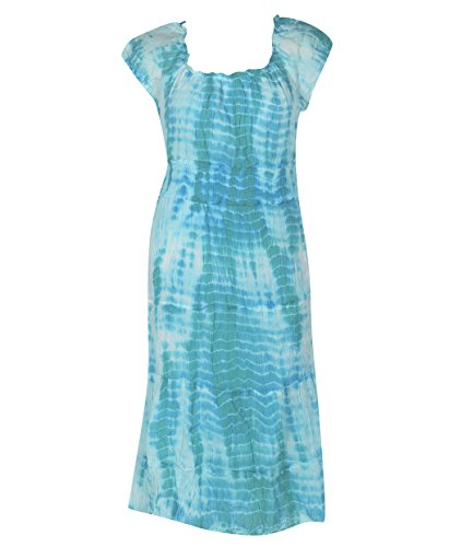 Plus Size Aqua Tiered Tie Dye Maxi Dress --Size: 3X Color: Aqua
