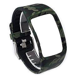 Moretek Wireless Sport Wristband Strap Smartwatch Band for Samsung Galaxy Gear S Et-sr750 Watch Replacement Band (Camo3)