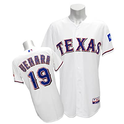(マジェスティック)Majestic MLB レンジャーズ #19 上原浩治 Cool Base Authentic Player ユニフォーム (ホーム) - 40(M)
