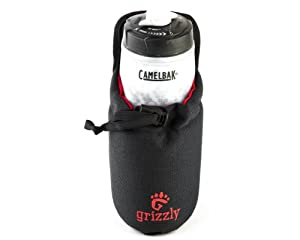 Grizzly Snake River Adjustable Tool, Utility and Equipment Holder, Holster or Pouch (Black) Construction, Electrician, Maintenance, Technician, HVAC for Accessories, Water Bottle, Juice, Beer, Soda, Glue, Meters for Waist Belt, Utility Belt. Tool Bag