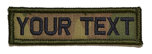 Customizable Text 1x3.75 Patch w/Velcro - Military/Morale - Multicam (Custom Velcro Patch compare prices)