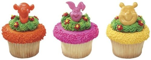 24 ct - Winnie the Pooh, Tigger and Piglet Cupcake Rings