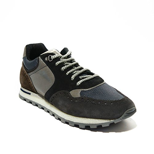 Brimarts sneakers uomo pelle Grigio lavagna made in italy art.318566 43