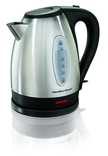 Lowest Prices! Hamilton Beach 40880 Stainless Steel Electric Kettle, 1.7-Liter, Silver
