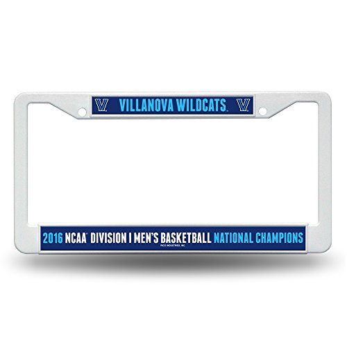 NCAA Villanova Wildcats 2016 Mens National Basketball Champions Plastic Plate Frame