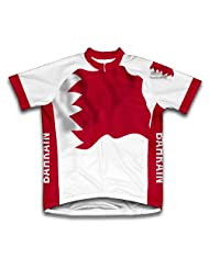 Bahrain Flag Short Sleeve Cycling Jersey for Women
