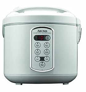 Aroma Professional 20-Cup (Cooked) Digital Rice Cooker, Food Steamer and Slow Cooker, White
