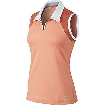 Nike Ladies Novelty Sleeveless Polo by Nike