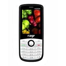 Rage Thunder (White+Grey) Colour Dual SIM Mobile with Camera & FM Radio and 1800 mAh Long Life battery