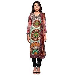Bhelpuri Women Multi Colour Crepe Dress Material