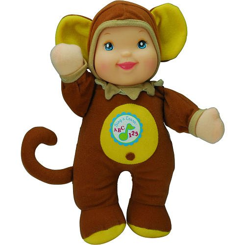1-X-Sing-Learn-ABCs-123s-11-inch-Doll-Monkey-Outfit-by-Golderger