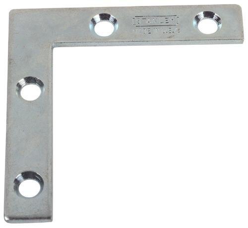 Stanley Hardware 3-Inch Flat Corner Brace, Zinc Plated, 4-Pack #756891 front-985205