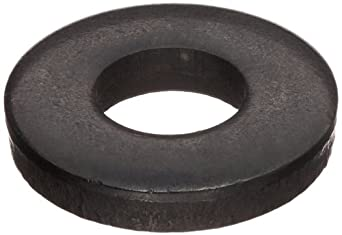 "Steel Flat Washer, 7/8"" Hole Size, 1.156"" ID, 2.250"" OD, 0.219"" Nominal Thickness, Made in US (Pack of 5)"