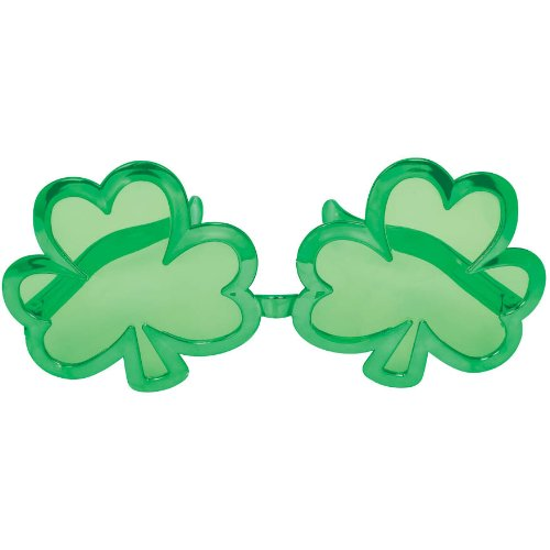 St. Patrick's Day Giant Shamrock Glasses Party Accessory