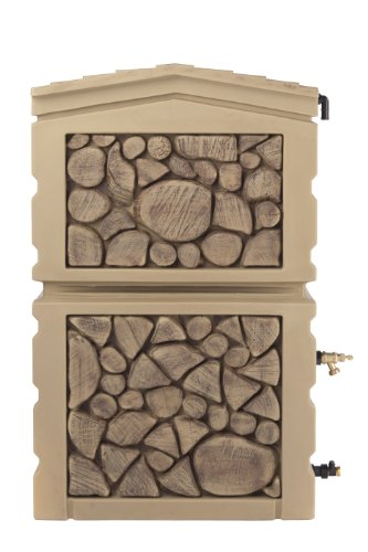 RTS-Home-Accents-47-Gallon-Decorative-Northland-Rain-Water-Collector-with-Two-Brass-Spigots-Oak-Color