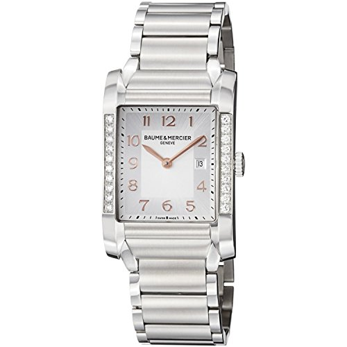 Baume and Mercier Hampton Silver Dial Stainless Steel Ladies Watch M0A10023